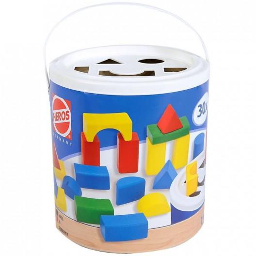 30 bloques de madera con tapa de encaje
