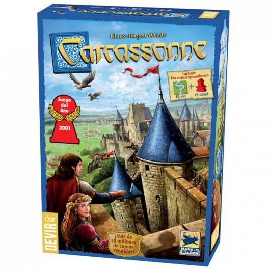 Carcassonne (español) - Juego de estrategia (incluye 2 mini expansiones)