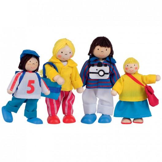 Familia de vacaciones para casa de muñecas