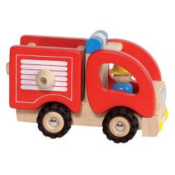 Camión de Bomberos de madera