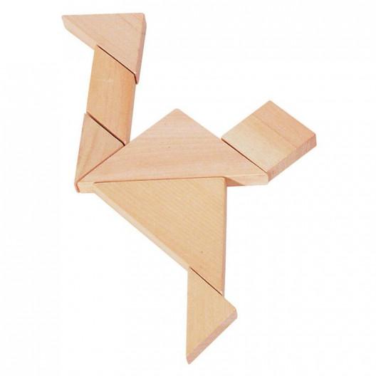 Trencaclosques de fusta Tangram, 7 peces