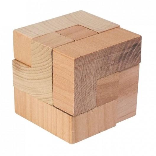 Rompecabezas de madera El dado mágico, 7 piezas