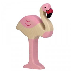 Flamingo - animal de madera