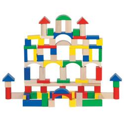 Bloques de madera de construcción 100 piezas