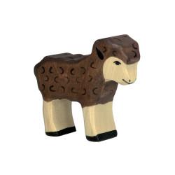 Cordero marrón - Animal de madera