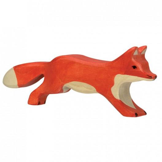 Zorro corriendo - animal de madera