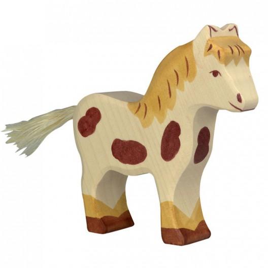 Poni moteado - animal de madera