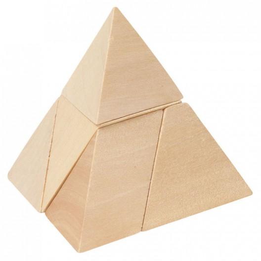 Trencaclosques de fusta La Piràmide, 5 peces