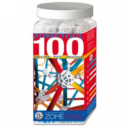 Zometool 100 - piezas de ampliación, 100 piezas
