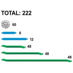 Zometool Green Lines - Set avanzado de ampliación, 222 piezas