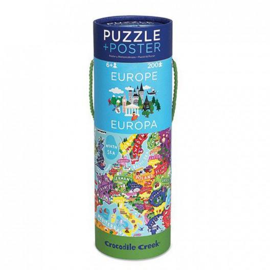 Puzzle y póster Europa - 200 pzas.