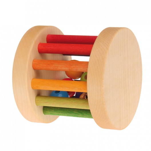 Sonajero rueda de madera pequeño - Arco Iris