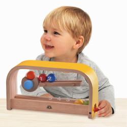 Contar bolas del 1 al 5 - juguete de madera