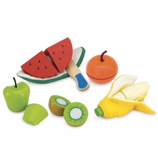 Set pela y corta frutas de madera