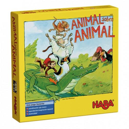 Animal sobre animal - joc d'habilitat de fusta per a 2-4 jugadors