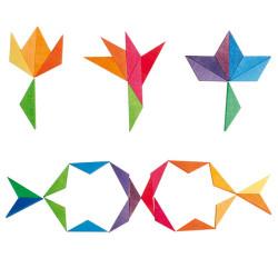 Mini puzzle creativo estrella de colores complementarias