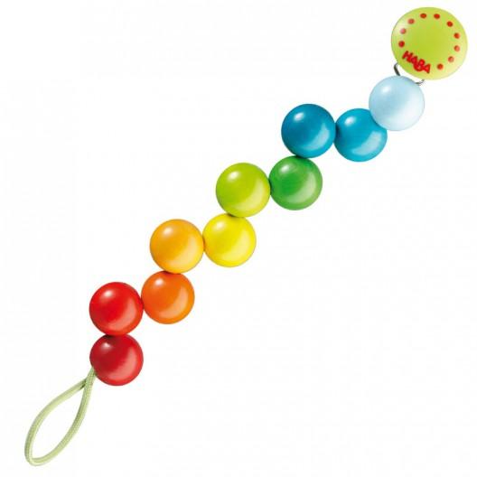 Perlas arco iris - Collar para el chupete