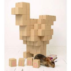 GIGI BLOKS XXL - sistema creativo de 60 bloques de construcción de cartón