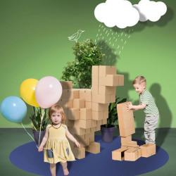 GIGI BLOKS gigantes - sistema creativo de 60 bloques de construcción de cartón