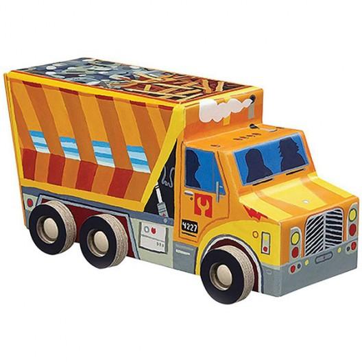 Puzzle en caja perfil camión volquete - 48 pzas.