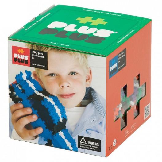 Plus-Plus Mini Basic 1200 piezas colores básicos - juguete de construcción