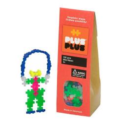 Plus-Plus Mini Neon 100 piezas colores neón - juguete de construcción