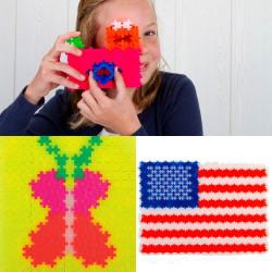 Plus-Plus Mini Neon 300 piezas colores neón - juguete de construcción