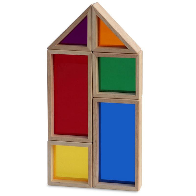 Bloques de madera de colores arco iris - Colores de madera ...
