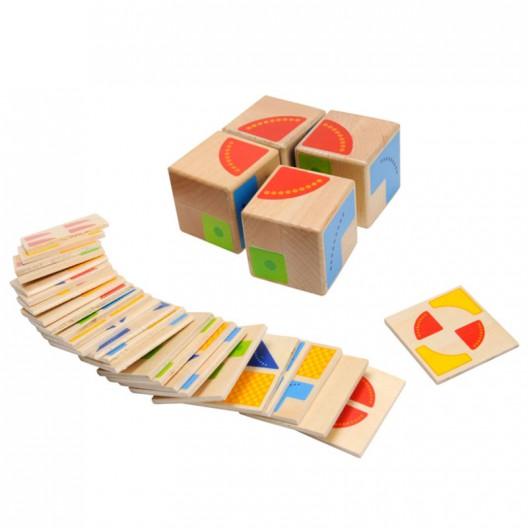 Kubus - joc de puzle amb formes geomètriques i colors