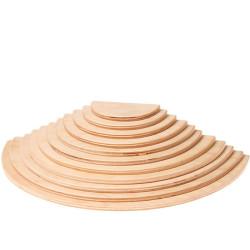 Semicirculos de madera natural tamaño grande