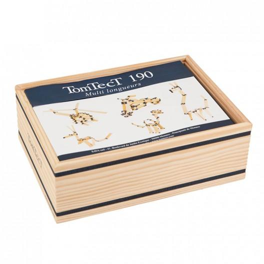 TomTecT 190 piezas - Cofre pequeño con plaquitas de construcción multilongitudes
