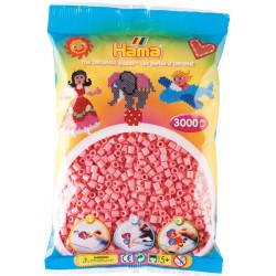 3000 perlas Hama de color rosa (bolsa)
