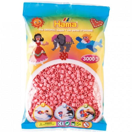 3000 perlas Hama MIDI de color rosa (bolsa)