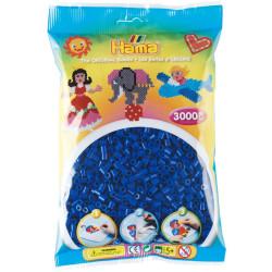 3000 perlas Hama de color azul marino (bolsa)