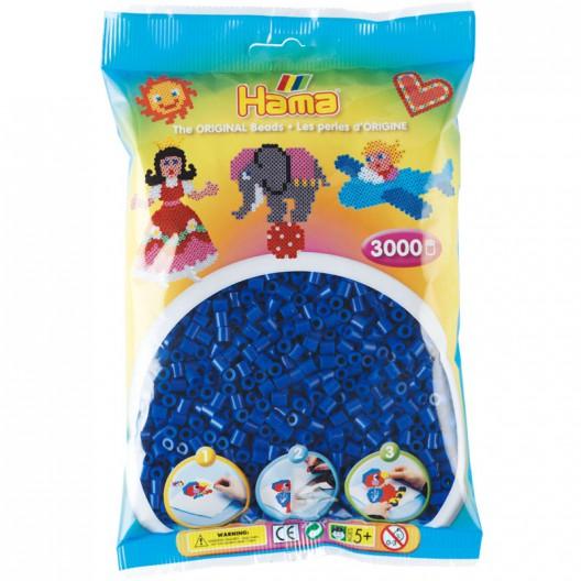 3000 perles Hama MIDI de color blau marí (bossa)