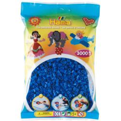 3000 perlas Hama de color azul claro (bolsa)
