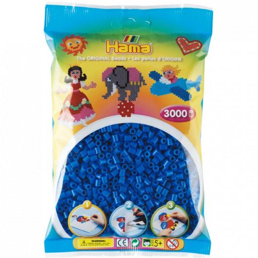 3000 perlas Hama MIDI de color azul claro (bolsa)