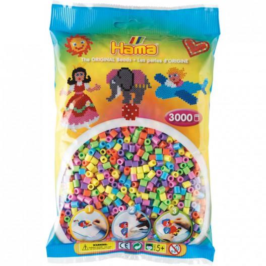 3000 perlas Hama MIDI colores pastel (bolsa)
