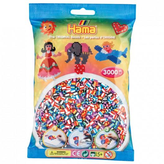 3000 perlas Hama bicolor mix 6 (bolsa)