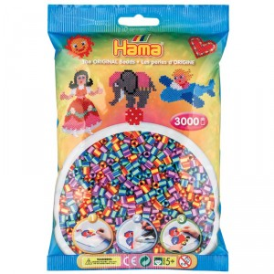 3000 perlas Hama bicolor mix 3 (bolsa)