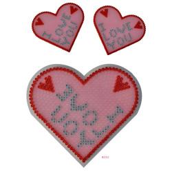 Blister placa corazón y hexágono grandes Hama midi