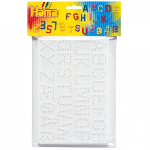 Blister placa letras y números Hama MIDI