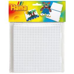 Blister 2 placas cuadradas conectables Hama midi