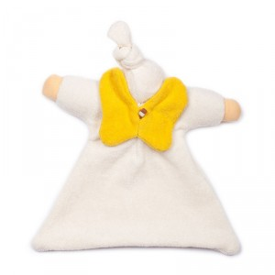 Doudou de algodón orgánico con alas amarillas