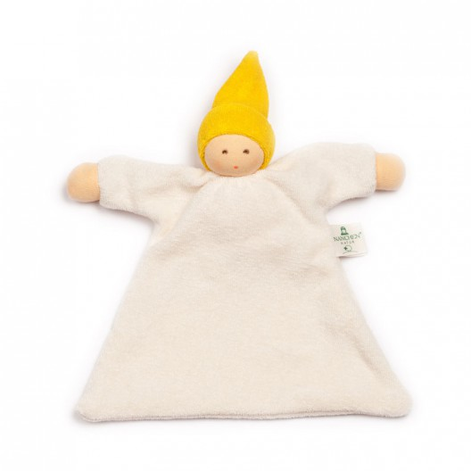Doudou de algodón orgánico amarillo