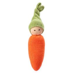 Sonajero de algodón orgánico - Zanahoria