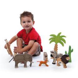 Cocodrilo pequeño - animal de madera