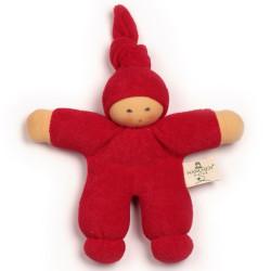 Muñeco Pimpel de algodón orgánico rojo