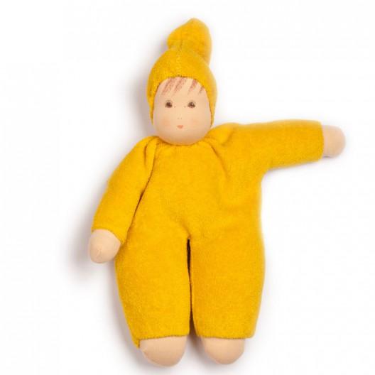 Muñeco Schmuse de algodón orgánico amarillo