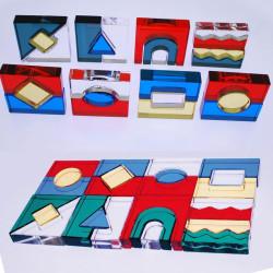 Set 25 Bloques acrílicos de colores